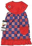 Zack & Zoey Patriotic Pooch Patchwork SPF Dress for Dogs, 14'' Small/Medium