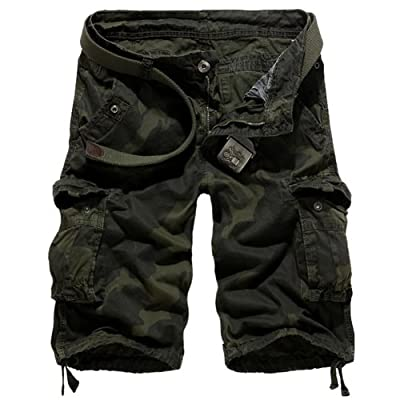 Juanshi Fathers Day Army Military Cargo Short Color Army Military