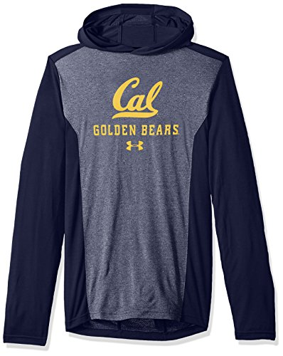 Under Armour NCAA UCLA Bruins Men's Threadborne Hooded Long Sleeve Tee, 3X-Large, Navy