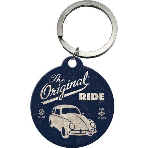 Nostalgic Art VW Beetle Original Ride round metal keyring (na) 48003