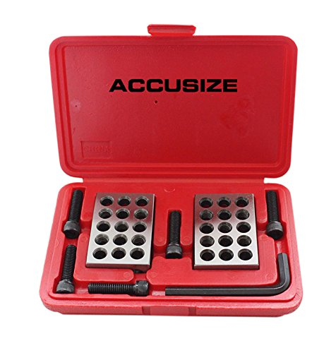 AccusizeTools - Ultra Precision 1-2-3 Blocks Set with Screw in Plastic Box, #EG02-0408