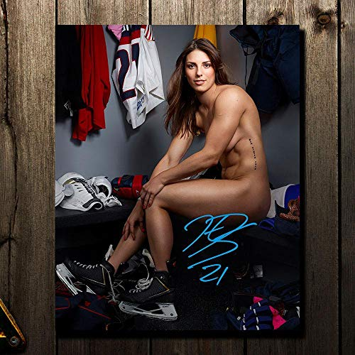Hilary Knight Team USA ESPN BODY ISSUE Autographed 8x10 - Autographed College Photos