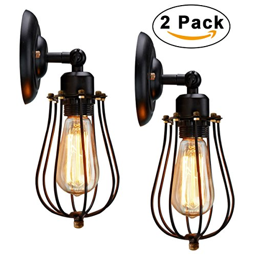 Antique Outdoor Lights Wire cage wall sconce kingso 2 pack 240 adjustable industrial oil wire cage wall sconce kingso 2 pack 240 adjustable industrial oil rubbed bronze wall light shade fixture vintage style edison mini antique outdoor light workwithnaturefo