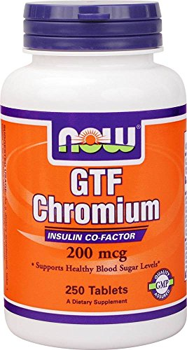 Chromium 250 Tabs (NOW Foods - GTF Chromium Yeast-Free 200 mcg. - 250 Tablets)