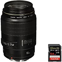 Canon (4657A006) EF 100mm F/2.8 Macro Lens + Sandisk Extreme PRO SDXC 64GB UHS-1 Memory Card