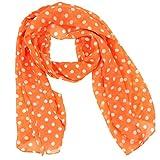 Fashionable Polka Dots Soft Chiffon Scarf - Orange