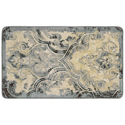 Laura Ashley Daventry High Definition Printed Memory Foam 20 in. x 34 in. Accent Rug in Taupe