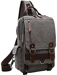 Canvas Cross Body Messenger Bag Shoulder Sling Backpack Travel Rucksack d94ee6726a