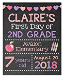 First Day of School Paper Art Print | First Day of School Sign | First Day Chalk | Kid First Day Sign | First Day of Kindergarten | Boys First Day of School | First Day of School Poster