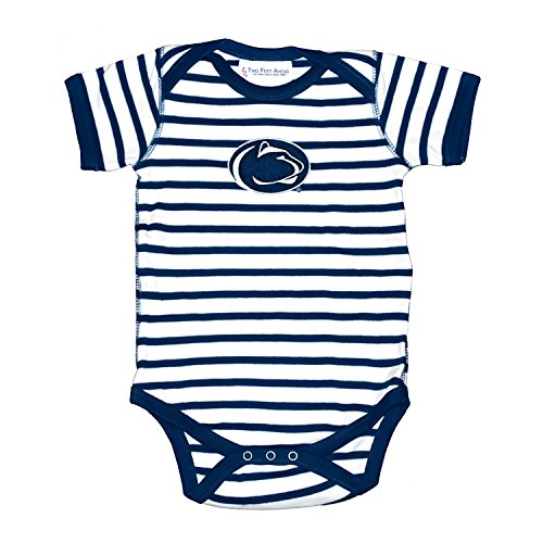 Penn State Nittany Lions Striped NCAA College Newborn Infant Baby Creeper (12 Months) ()