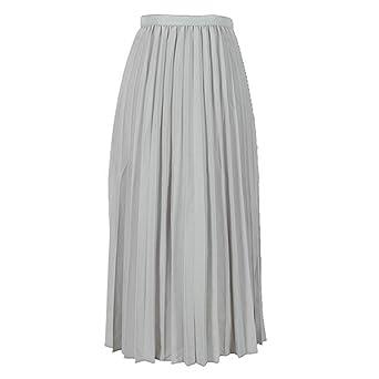 Falda para Mujer de Rovinci, Falda de Cuello Alto, Falda Larga ...
