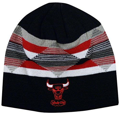 - Mitchell & Ness Chicago Bulls Diamond Inlay Beanie Knit Hat