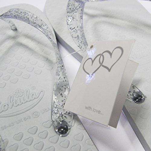 Zohula Witte Bruiloft Slippers Teen Trenner Premium Party Pakket - 20 Paar Flip-flops Opgenomen Rieten Mand Presentatie