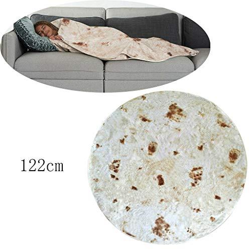 "liumiKK Title: 48"" Burrito-Printing Blanket Flour Round Tortilla-Pattern Towel For Adults Kids"