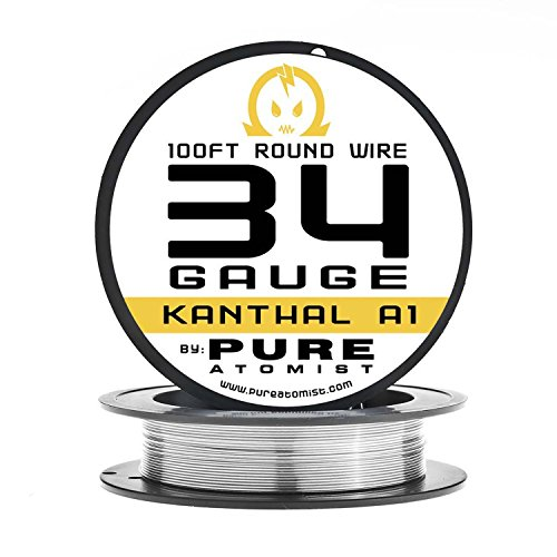 Amazon.com: 100ft - PURE ATOMIST 34 Gauge kanthal A1 Wire 100\' Roll ...