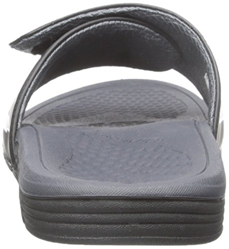 New Balance Mens Cush Slide Sandal, Black/Grey, 10 4E US Black/Grey