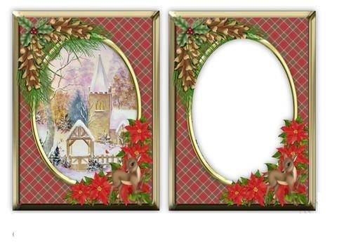 Christmas Village chiesa rosso aperture di topper by Patricia Platt Craftsuprint
