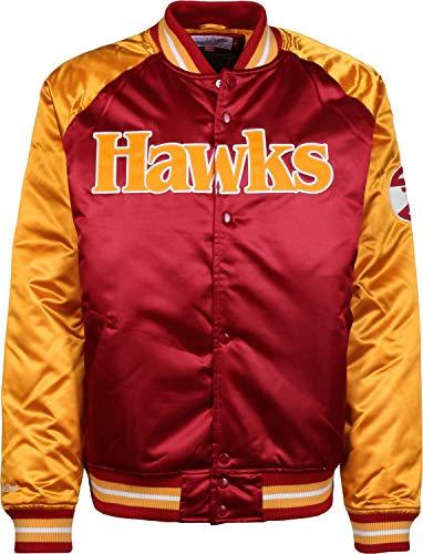 Hawks Mitchell Ness Atlanta Multicoloured College amp; Season Satin Giacca Though xYFnqpwRY