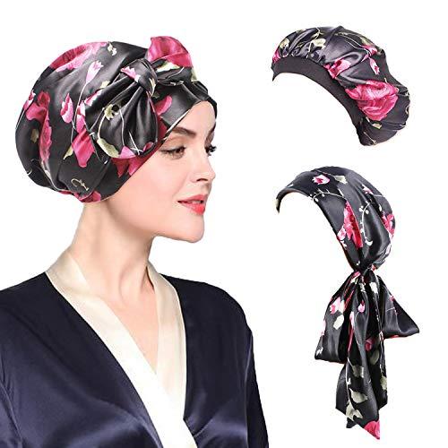 - Besteel 2-4 Pcs Soft Satin Hair Bonnet for Women Girls Silk Sleeping Salon Cap Bonnet Set