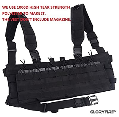 GLORYFIRE Tactical Vest Elite Molle Law Enforcement Vest Assault Chest Modular Vest (BB)