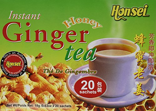 Honsei Instant Ginger Honey Tea, 40 - Crystal Ginger Instant Tea Honey