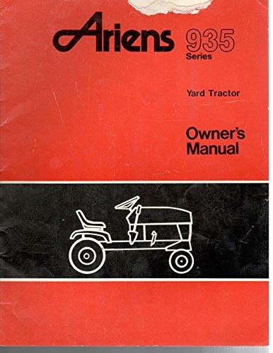Ariens 935 Series Yard Tractor Owner's Manual Part No. 35368B