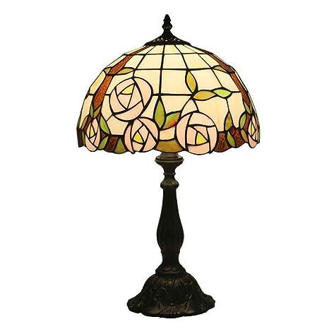 Lámpara de mesa estilo Tiffany 12 pulgadas Vintage Color creativo ...