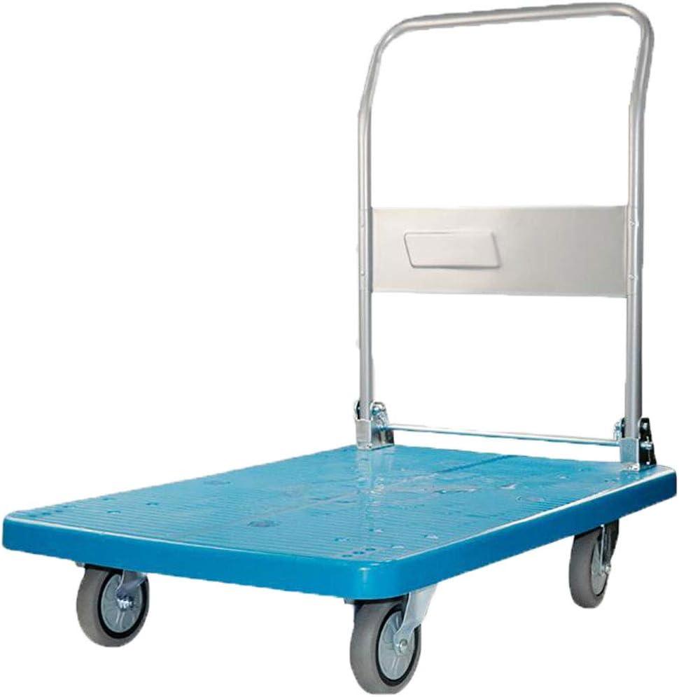 Platform Trucks,Hand Trolley Folding Truck Cart Heavy Duty Flat Bed Transport Warehouse Office Garden 200kg-300kg (Size : B)