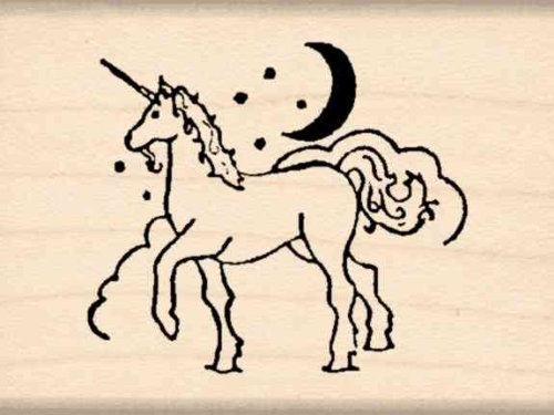 Unicorn Rubber Stamp – 1-1/2 inches x 2 inches