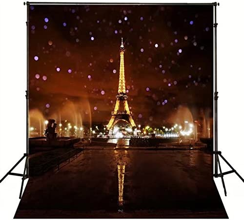 Eiffel Tower Backdrop French Landmark Photography Background MEETSIOY 5x7ft Themed Party Photo Booth YouTube Backdrop GYMT511