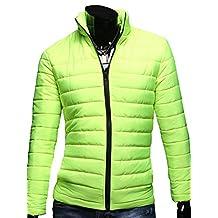 Men's Cotton Stand Collar Winter Jacket Casual Coat