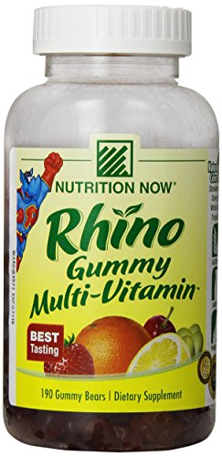 Gummy Vitamin Rhino - Nutrition Now Rhino Gummy Bear Vitamins, 190 Chews