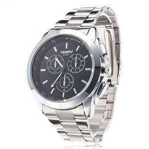 Ouku Men's Business Style Steel Analog Quartz Wrist Watch Dress Casual Watches (Black)