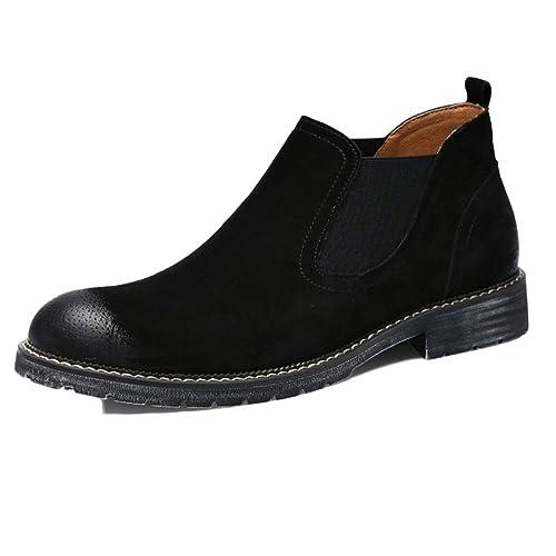 Botas Chelsea Hombre Gamuza Cuero Oxblood Desierto Brogue Classic Spring Martin Boots Botines Botas Hombre High Top Shoes: Amazon.es: Zapatos y complementos