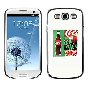 X-ray Impreso colorido protector duro espalda Funda piel de Shell para SAMSUNG Galaxy S3 III / i9300 / i747 - Drink Brand White Popular