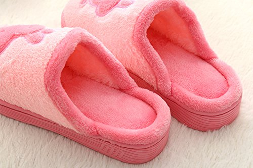 Warm Skid Mules Household Waterproof on Pink Winter Mens Shoes Sole Anti Home Slip Fleece Scuff Plush Clog Indoor Womens Slippers YTZqv