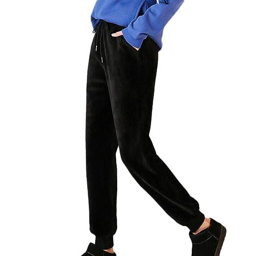 Icepeach - Pantalones de chándal para Mujer (Ajustados, Informales ...