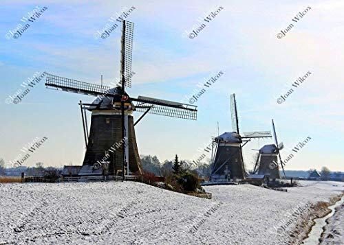 Leidschandam Scenic Winter Windmills of Holland Netherlands Winter Europe Dutch Netherlands Dutch Countryside Architecture Original Fine Art Photography Wall Art Photo Print