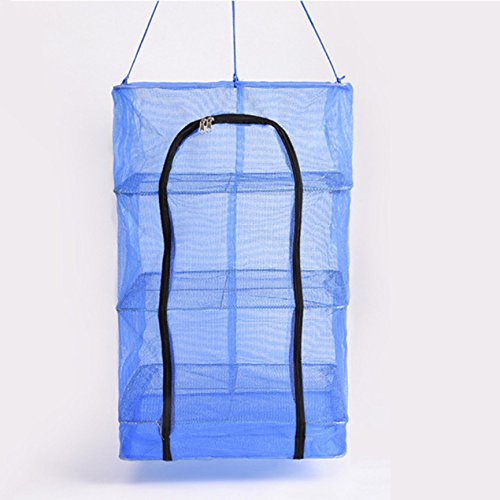 Drying Rack,3 Layers Collapsible Mesh Hydroponic Hanging D