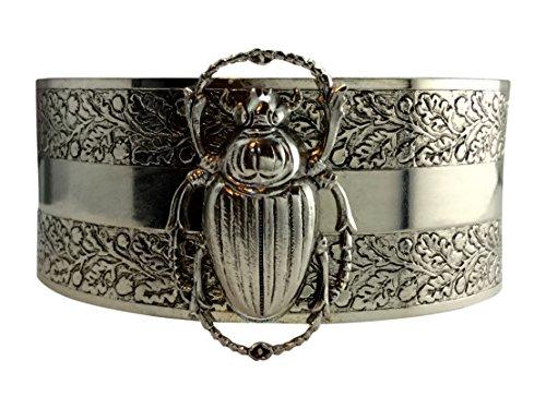 Scarab bracelet Egyptian Revival jewelry cuff bangle vintage bracelet