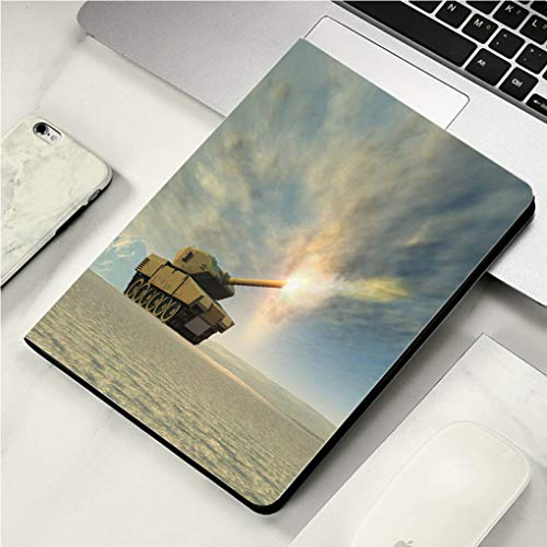 "Case for iPad Pro Case Auto Sleep/Wake up Smart Cover for iPad 10.5"" Case,Battle Tank Firing"