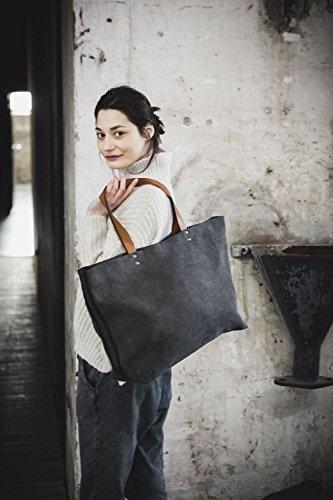Libeco Home - Leinen Schultertasche Rand 35x46x15cm Arabica