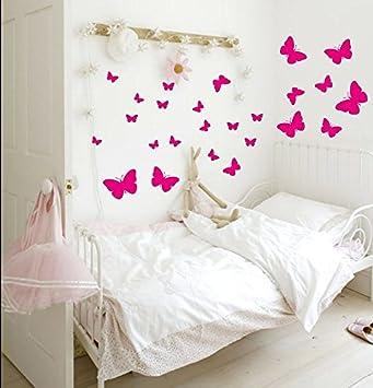 42 Schmetterlinge Babyzimmer Jungen Mädchen Wandaufkleber Wohnkultur  Karikatur Dekoration Zimmer Abziehbilder Wandkunst Tapete Schön Wandbild  Kunst