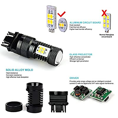 JDM ASTAR Bright White Output 3030 Chipsets 3056 3156 3057 3157 4157 LED Bulbs with Projector: Automotive