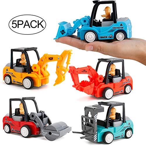 rdwod gift Toddlers Infant Toys Car for 2-6 Year Old Boys, Construction Sand Toys Trucks Pull Back Car for Kids Toys for 2-4 Year Old Boys Girls Gifts for 2-6 Year Old Girls Boys (Random Color)