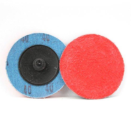 25 Pack - 2'' Premium Ceramic Quick Change Sanding Discs Type R Male - Roll On (40 Grit)…