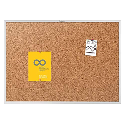 Quartet Cork Board, Bulletin Board, 5 x 3, Corkboard, Aluminum Frame (2305)
