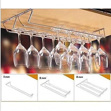 New Arrival Wine Glass Rack Cabinet Stand Home Dining Bar Tool Shelf Holder Hanger - 1 Row SoundsBeauty