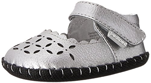 pediped Katelyn Originals Mary Jane (Infant/Toddler),Silver,Medium (12-18 Months)