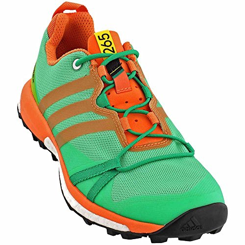 Adidas Womens Terrex Agravic Trail Scarpe Da Corsa Core Green / Nero / Easy Orange - 9.5